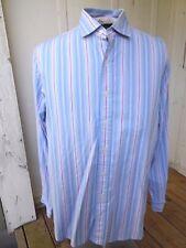mens POLO GOLF RALPH LAUREN Stripe Westerton Blue White Violet LS Shirt sz L