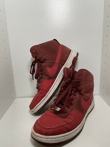 Womens Nike AF1 Ultra Force Mid Size 7 1/2 Gym Red/Red-White 654851-601 RARE