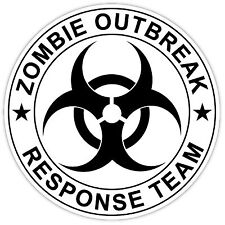 "Zombie Outbreak Response Team sticker decal 4"" x 4"""