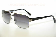 Emporio Armani Herren Metall Sonnenbrille EA 2002 3016 8G 57 15 Silber Neu