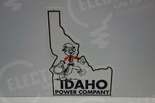 "Reddy Kilowatt IDAHO POWER COMPANY DIE CUT SIGN ELECTRICIAN GIFT 16"" BY 12"""