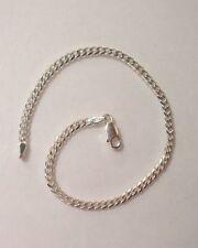 """925 Sterling Silver Anklet Bracelet Chain 10"""" Curb Link Design G1139"""