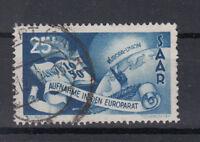 Saarland Briefmarken 1950 Aufnahme in Europarat Mi-Nr. 297 gestempelt