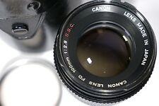 Canon FD 100 mm 1:2 .8 S. SC Lens Objectif