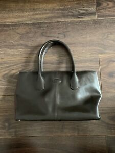 Gorgeous Large TOD'S 100% Thick leather bag Tote Bag Handbag Beige