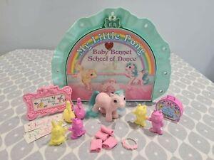 ~*MY LITTLE PONY (G1) BABY BONNET SCHOOL OF DANCE PLAYSET (1985/6) BY HASBRO*~