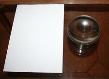 ancienne grosse loupe pour carte de marine XIXème bronze d:12
