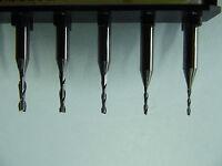 10 Stück + VHM  2 Schneiden Fräser +  1,0 mm + Modellbau + Dremel + Proxxon +