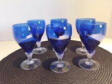 "Vintage Sasaki Crystal Cordial /Aperitif/Wine Glasses ""Coronation""  Pattern (6)"