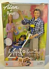 New 2002 Barbie Happy Family Alan and Ryan Dad & Son Pregnant Midge Family Nrfb