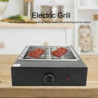 Portable Electric Grill Smokeless Non-Stick Cooking BBQ Indoor & Outdoor Cooker