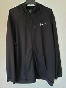 Nike Drifit Hoodie Black Size 4XL Tall Nike Therma Dri-fit Hoodie Zip CJ4317-010