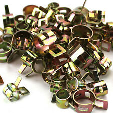 10X Spring Clip Fuel Line Hose Water Pipe Air Tube Clamps Fastener 7/8/12/13.5mm