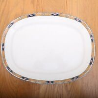 Crooksville China Vintage Serving Platter Plate Floral Radial Pattern 828