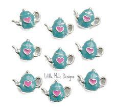 Teapot Floating Charm For Living Memory Locket Pendant Bracelet Drink Charms