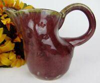 Vintage Hand Thrown Studio Art Pottery Stoneware Small Pitcher Creamer * Mint