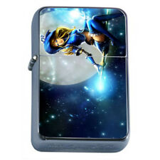 Hot Anime Witches D6 Flip Top Oil Lighter Wind Resistant With Case