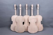 2pcs 4/4 Violin Unfinished Handmade Body Flame Maple Back Russian Spruce Top