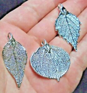Petite Silver Plate Leaf Collection - Real Leaf Jewellery Clearance 1016