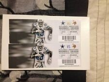 2013 DALLAS COWBOYS VS MINNESOTA VIKINGS CHIEFS TICKET STUB 11/3/13