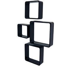 Cube - Affichage Mural/STOCKAGE Cubes - Ensemble de quatre - Noir st4crb