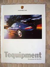 PORSCHE OFFICIAL 996 911 CARRERA TEQUIPMENT FIRST BROCHURE 1999 USA EDITION