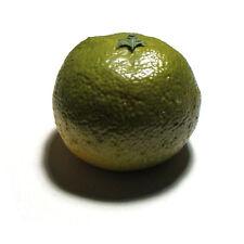 Artificial Tangerine Green Large - Plastic Decorative Fruit Tangerines Fake