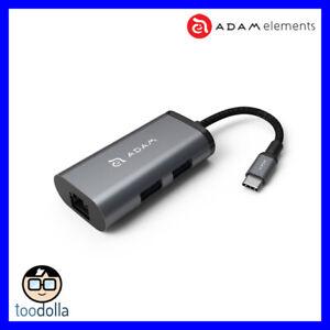 Adam Elements CASA Hub eC301. Portable USB-C, USB, ethernet hub. Apple/Windows