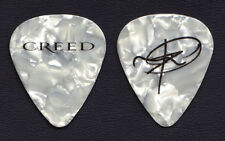 Creed Mark Tremonti Signature White Pearl Guitar Pick - 2010 Tour