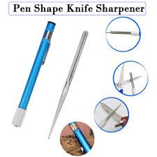 2-in-1 Diamond Pocket Blade Sharpener Pen-file Hunting Fish Saw Hook Tool