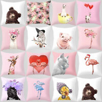 ALS_ Modern Cute Cartoon Print Animal Home Sofa Decor Cushion Cover Pillow Case