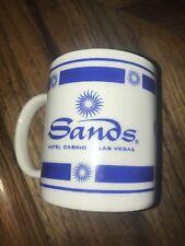 Sands Hotel Casino Sunbursts Logo Blue Coffee Cup Las Vegas Nevada