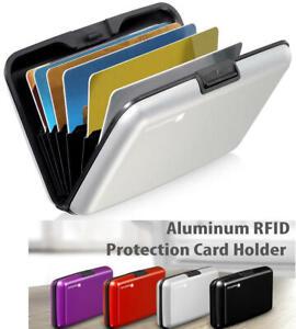 Aluminio Tarjetero Billetera Para Hombre Y Mujier Cartera De Guardar Tarjetas
