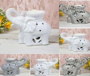 Elephant Fragrance Oil Burner Wax Melt Tart Warmer &Tea Light Candle Holder Gift