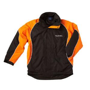 Kubota Branded Waterproof Nylon Orange/Black Jacket