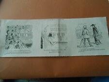 Caricature 1879 - Hydrothéraphie sacrée Eau chaude de Salette de Lourdes