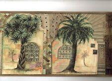 INTERNATIONAL STYLE PALM TREES WALLPAPER BORDER WT1039B