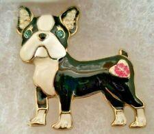 Betsey Johnson Jewelry Boston Terrier Enamel Pin