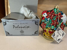 New ListingThree French Hens Polonaise Kurt S. Adler Komozja Glass Christmas Ornament box