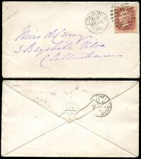 PENNY RED Plate 121 on ENVELOPE 1870...DOG EMBOSSED FLAP HUNTING HOUND