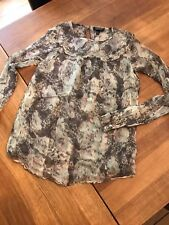 TOPSHOP DOUBLE LAYER CUPRO BLOUSE - SIZE 8