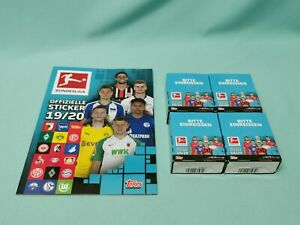 Topps Bundesliga Sticker 2019/2020 Sammelalbum + 4 x Display / 144 Tüten  19/20