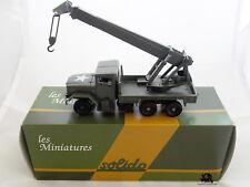 Miniature Métal Tank SOLIDO Camion militaire KAISER Jeep Grue 6x6 Diecast Metal