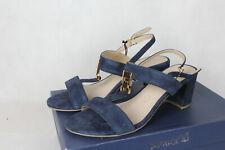 Caprice Schuhe Leder Sandalen,blau,Damen Gr.39,neu