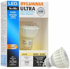 Sylvania 8 Watt PAR16 LED 120V Twist & Lock (GU10) Base Dimmable Flood Bulbs.
