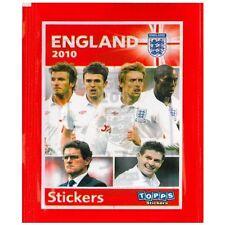 Inglaterra Oficial Copa Del Mundo 2010 Pegatinas X 10 packs