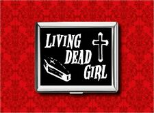 LIVING DEAD GIRL COFFIN CROSS METAL WALLET CARD CIGARETTE ID IPOD CASE