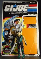 "DIAL-TONE 1986 Vintage GI JOE 3.75"" Action Figure Toy COMPLETE w/ CARD BACK ARAH"