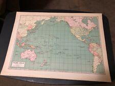 L@@K! Vintage 1940 World Atlas Map of  WWII World War Map