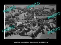 OLD 6 X 4 HISTORIC PHOTO OF SHOREHAM KENT ENGLAND AERIAL VIEW OF TOWN c1950 2
